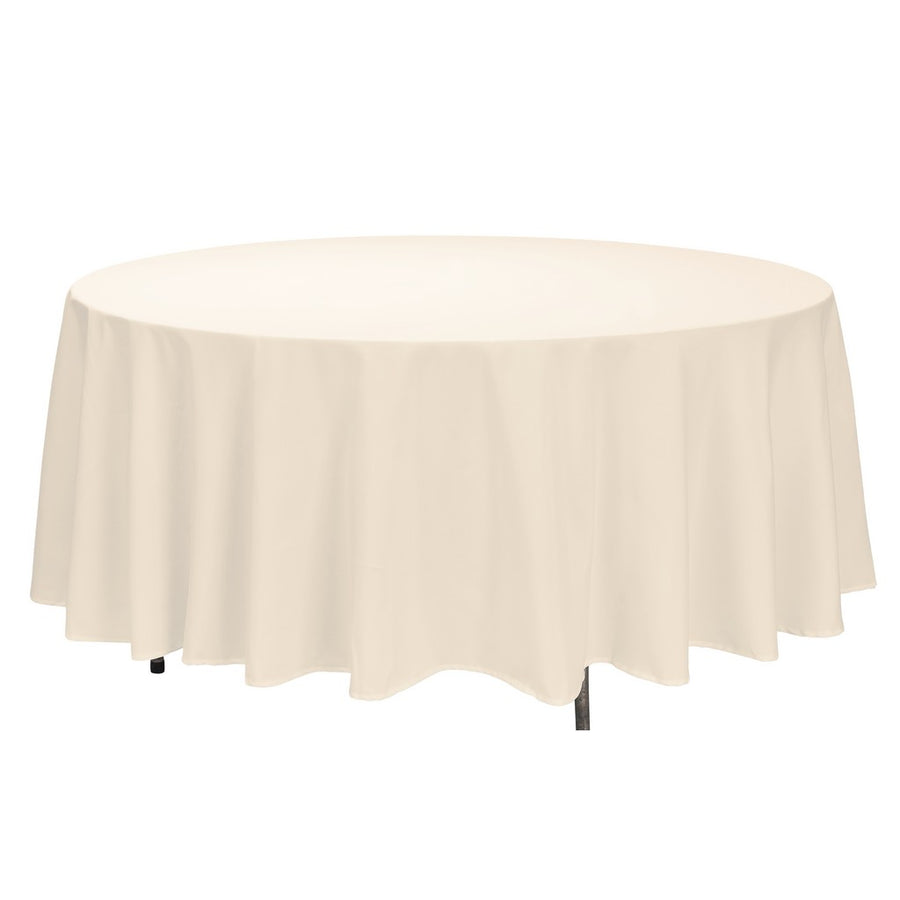 "Tablecloth - Round - 120"" - Ivory"