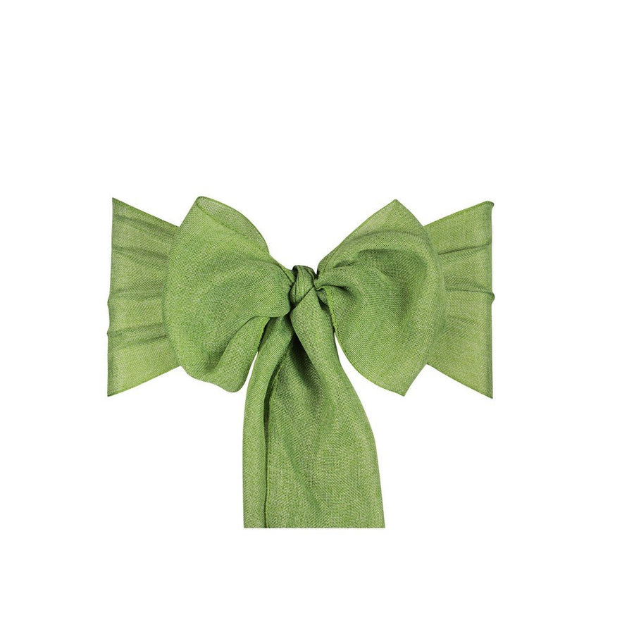 Linen Sashes 10pcs  - Sage Green