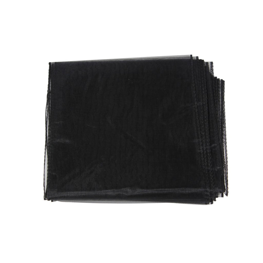 Organza Sash - 10pcs - Black