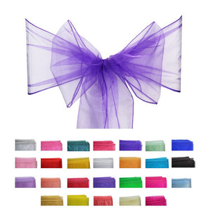 Organza Sash - 10pcs - Cadbury Purple