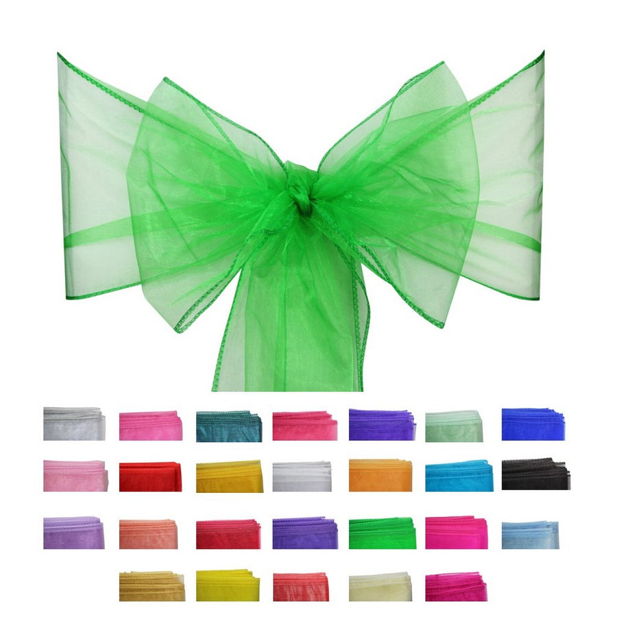 Organza Sash - 10pcs - Emerald Green