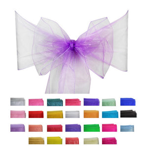 Organza Sash - 10pcs - Light Purple