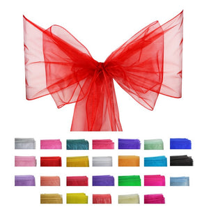 Organza Sash - 10pcs - Red