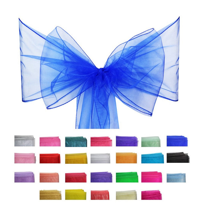 Organza Sash - 10pcs - Royal Blue