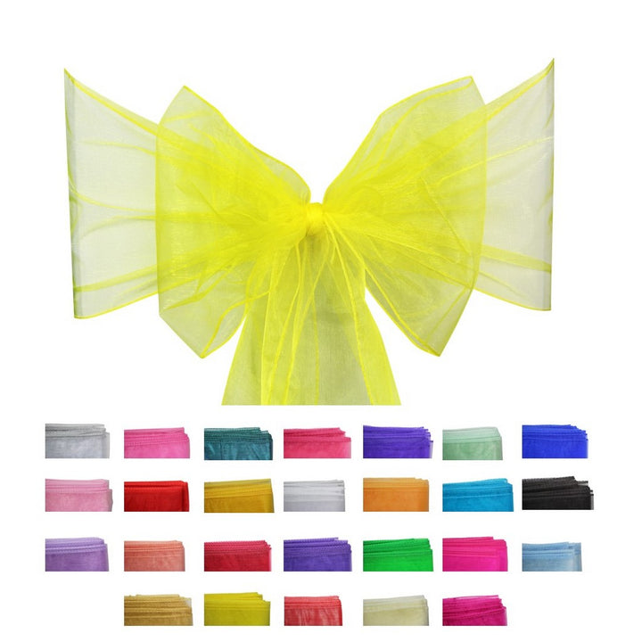 Organza Sash - 10pcs - Yellow