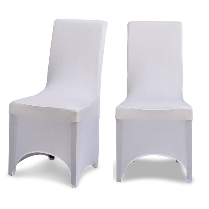 White Chair Cover - Arched Fronted