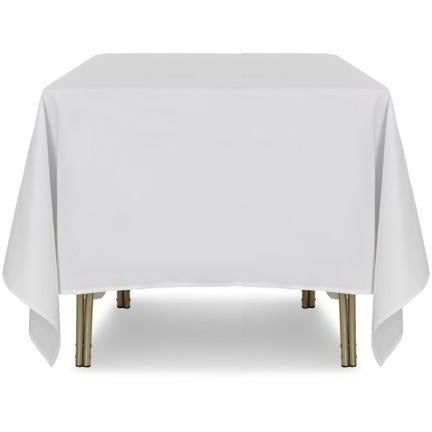 "White Square Polyester Tablecloth - 90"" x 90"""