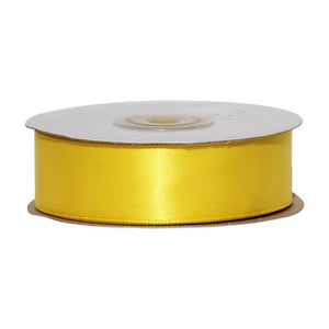 Yellow - 25mm x 25m - Satin Ribbon - Double Sided
