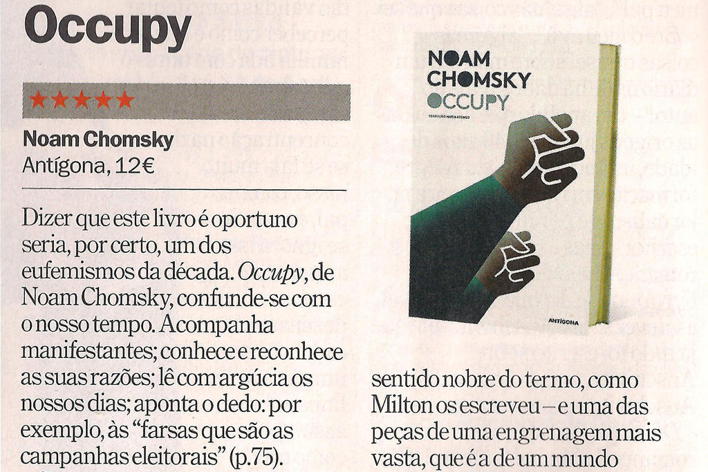 Occupy | Time Out Lisboa | Recensão de Hugo Pinto Santos | ★★★★★