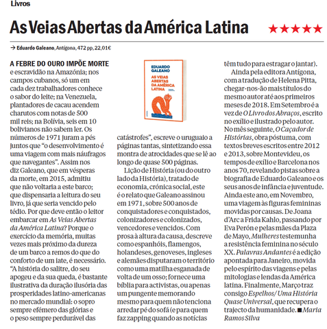 As Veias Abertas da América Latina | Time Out Lisboa | ★★★★★