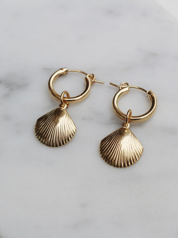 SpeShell Hoop Earrings