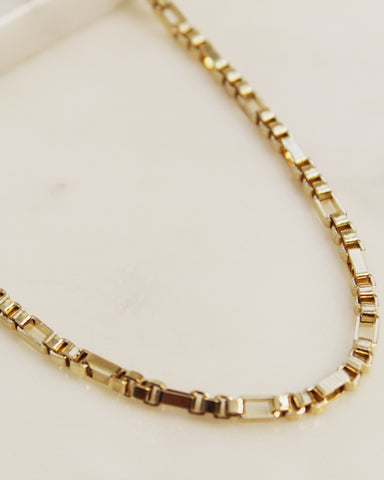 Retro Box Chain Anklet
