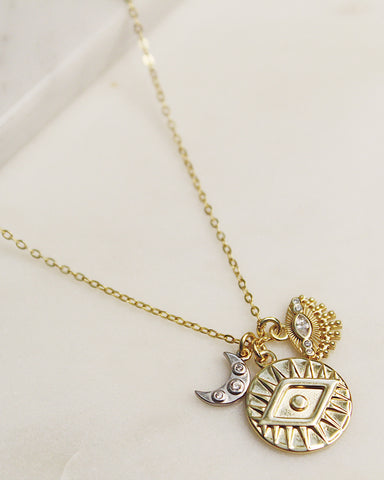Eye of The Beholder Charm Necklace