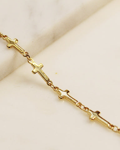 All Around Cross Chain Anklet