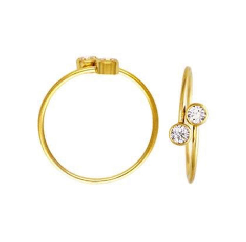 Adjustable CZ Stacking Ring