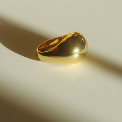 XL Gold Signet Ring