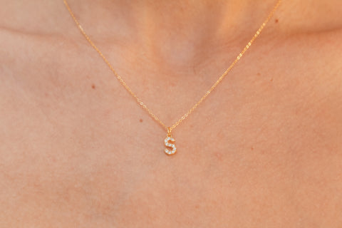 Dazzled Letter Necklace