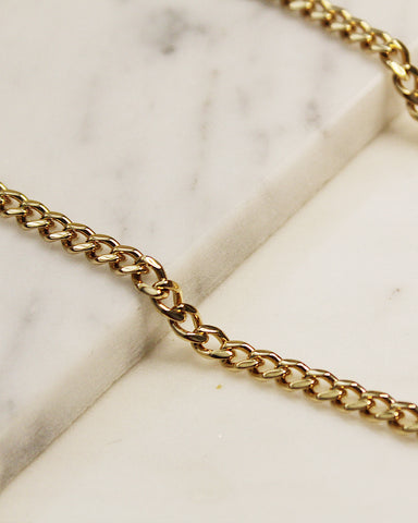 Oval Cuban Chain Anklet