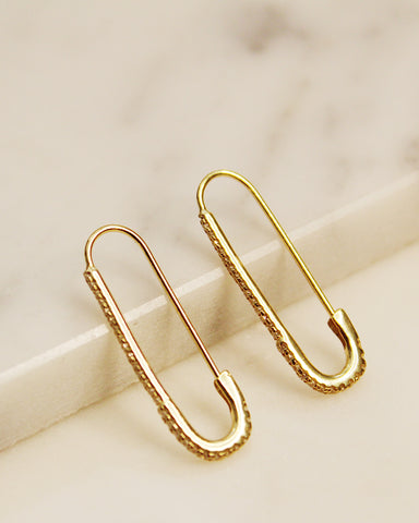 Sia Safety Pin Earrings