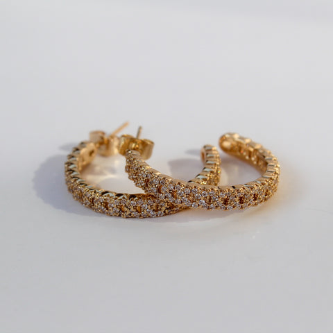 Micropave Cuban Chain Hoops