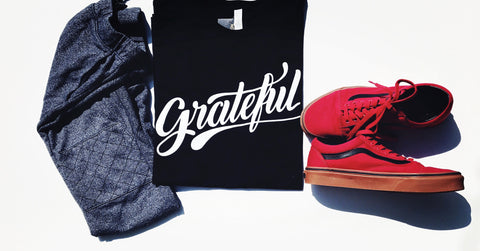 Grateful Unisex Black T-Shirt