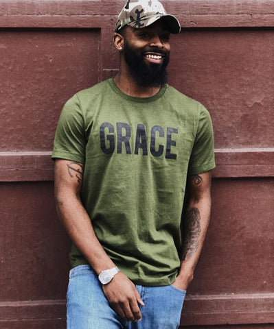 Grace Olive Green Unisex T-Shirt