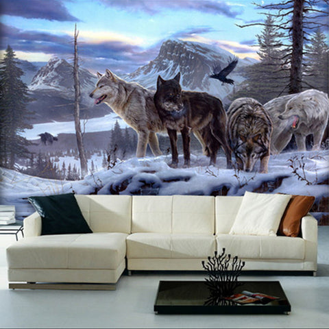 DIY 3D Wall Murals Pack of Wolfs