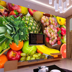 DIY 3D Wall Murals Kitchen Fruit