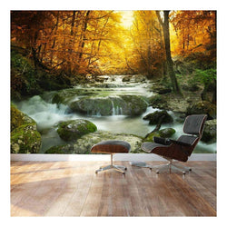 DIY 3D Wall Murals Enchanting Forest Waterfall
