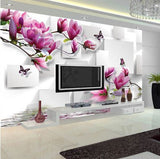 DIY 3D Wall Murals Orchid Reflection Abtract