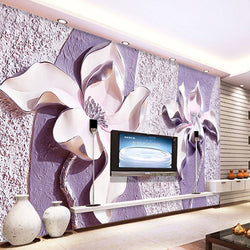 3D Wall Murals Stereoscopic Flowers Abtract