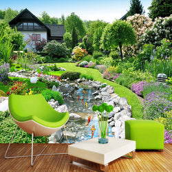 3D Wall Murals Countryside Garden