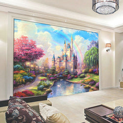 DIY 3D Wall Murals Fantasy Castle