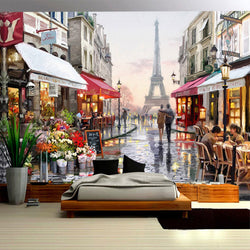 DIY 3D Wall Murals Cafe Restaurant in Paris