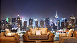 DIY 3D Wall Murals Manhattan Night
