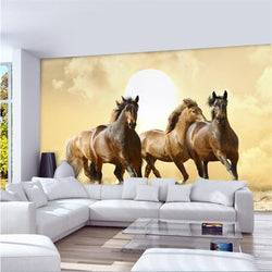 DIY 3D Wall Murals Galloping Horses