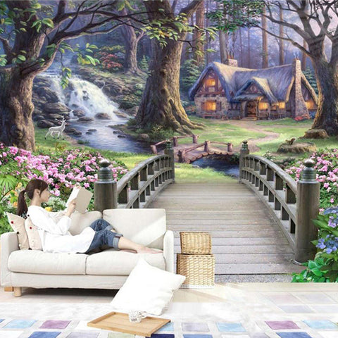 DIY 3D Wall Murals Fantasy Forest Home Decor Craft