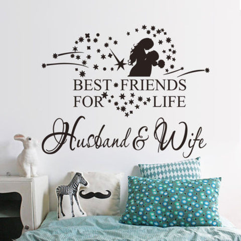 Best Friends for Life Husband & Wife Wall Sticker