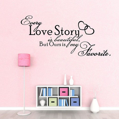 Every Love Story Wall Decals
