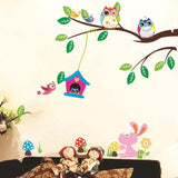 Owl wall stickers for kids room decals