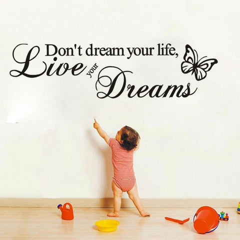 Don't Dream Your Life  Quote Wall Stickers
