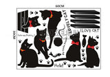 Lovely cats Wall Stickers Wallpaper