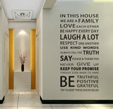 2017 Family House Rules Quote Wall Stickers