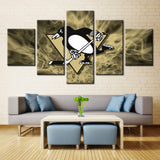 Pittsburgh Penguins 5 Pieces Canvas