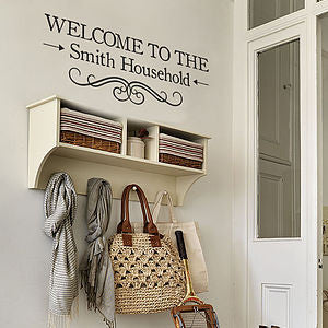 "Personalized custom ""Welcome to my home"" Wall Stickers"