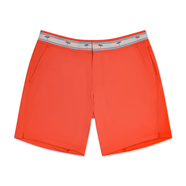 Turks & Caicos Coral - Athletic Stretch Swim Trunk
