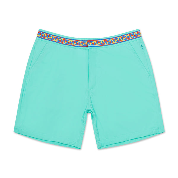 Mint Aztec Athletic Mens Swim Trunk Board Short