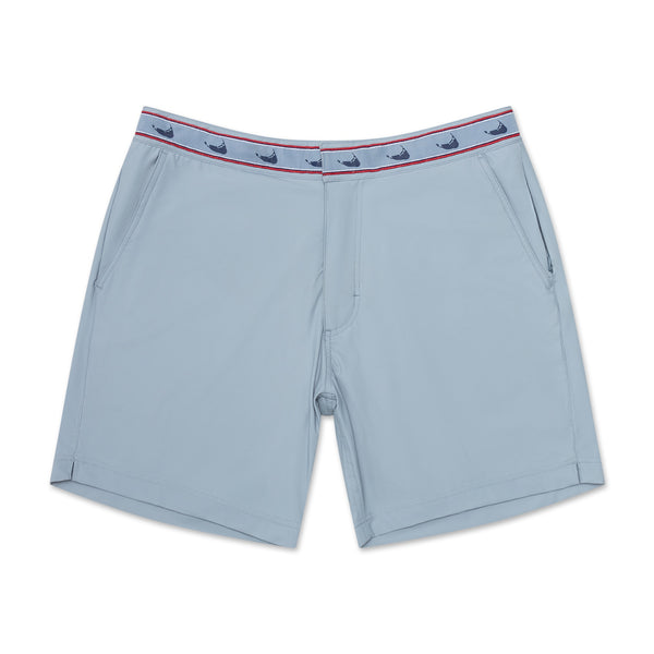 Nantucket Grey - Athletic Stretch Swim Trunk