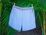 Nantucket Grey Athletic Mens Swim Trunk Caribbean Palm Tree Hanging