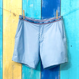 Nantucket Grey Athletic Mens Swim Trunk Caribbean Stripped Wall Hanging